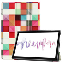 Huawei MediaPad M6 10.8 hoes - Tri-Fold Book Case - Blocks