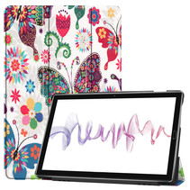 Huawei MediaPad M6 10.8 hoes - Tri-Fold Book Case - Vlinders
