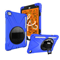 iPad Mini 7.9 inch (2019) Cover - Hand Strap Armor Case - Blauw