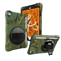 iPad Mini 7.9 inch (2019) Cover - Hand Strap Armor Case - Camouflage