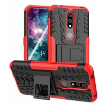 Nokia 4.2 hoes - Schokbestendige Back Cover - Rood