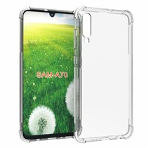 Samsung Galaxy A70 hoes - Anti-Shock TPU Back Cover - Transparant