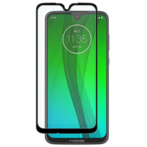 Motorola Moto G7/G7 Plus - Full Cover Screenprotector - Gehard Glas - Zwart
