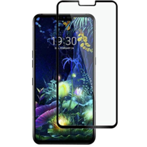 LG V50 ThinQ - Full Cover Screenprotector - Gehard Glas - Zwart