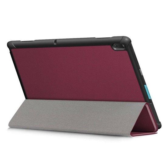 Case2go Lenovo Tab E10 hoes (TB-X104f)  - Tri-Fold Book Case - Donker Rood