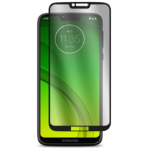 Motorola Moto G7 Power - Full Cover Screenprotector - Zwart