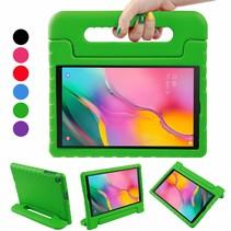 Samsung Galaxy Tab A 10.1 (2019) hoes - Schokbestendige case met handvat - Groen
