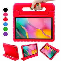 Samsung Galaxy Tab A 10.1 (2019) - Schokbestendige cover met handvat - Rood
