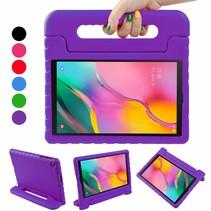Samsung Galaxy Tab A 10.1 (2019) hoes - Schokbestendige case met handvat - Paars