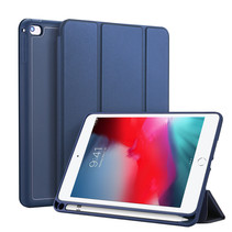 iPad Mini 2019 hoes - Dux Ducis Osom Tri-Fold Book Case Series - Blauw