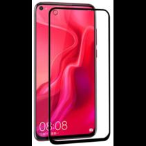 Huawei P20 Lite (2019) - Full Cover Screenprotector - Gehard Glas - Zwart