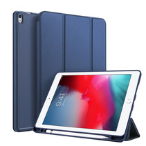 iPad Air 10.5 2019 hoes - Dux Ducis Osom Tri-Fold Book Case Series - Blauw