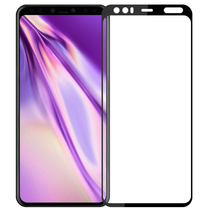 Google Pixel 4 XL - Full Cover Screenprotector - Gehard Glas - Zwart