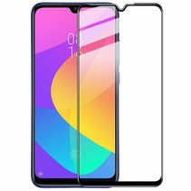 Xiaomi Mi A3 - Full Cover Screenprotector - Gehard Glas - Zwart