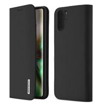 Samsung Galaxy Note 10+ hoes - Wish Series Lederen Book Case - Zwart