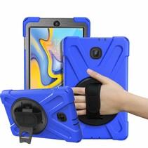 Samsung Galaxy Tab A 8.0 (2017) Cover - Hand Strap Armor Case - Blauw