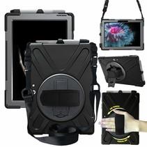 Microsoft Surface Go Cover - Hand Strap Armor Case - Zwart