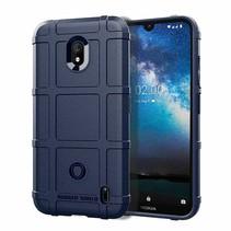 Nokia 2.2 hoes - Heavy Armor TPU Bumper - Blauw