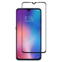 Xiaomi Mi 9 - Full Cover Screenprotector - Gehard Glas - Zwart