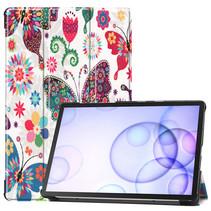 Samsung Galaxy Tab S6 hoes - Tri-Fold Book Case - Vlinders