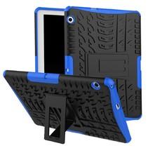Huawei Mediapad M5 Lite 10 hoes - Schokbestendige Back Cover - Blauw