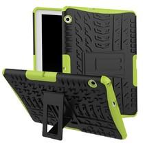 Huawei MediaPad M5 Lite 10.1 hoes - Schokbestendige Back Cover - Groen