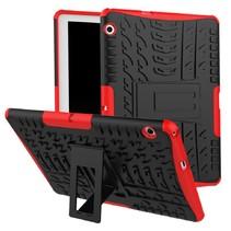 Huawei MediaPad M5 Lite 10.1 hoes - Schokbestendige Back Cover - Rood