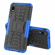 Samsung Galaxy A10 hoes - Schokbestendige Back Cover - Blauw