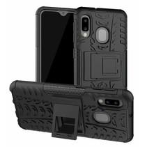 Samsung Galaxy A20e hoes - Schokbestendige Back Cover - Zwart