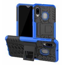 Samsung Galaxy A20e hoes - Schokbestendige Back Cover - Blauw