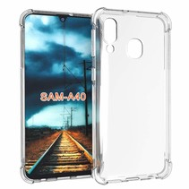 Samsung Galaxy A80 hoes - Anti-Shock TPU Back Cover - Transparant