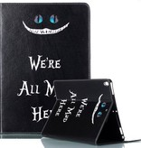 Case2go iPad Air 10.5 (2019) Hoes - Book Case - We're All Mad Here