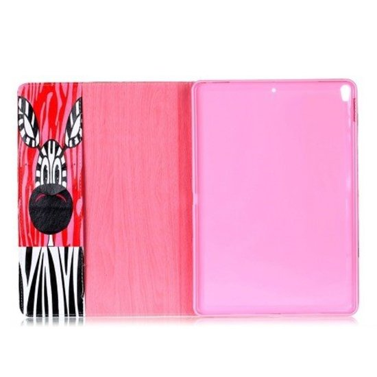 Case2go iPad Pro 10.5 (2017) Hoes - Book Case - Zebra