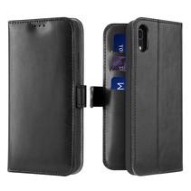 iPhone XR hoesje - Dux Ducis Kado Wallet Case - Zwart
