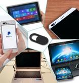 Case2go  Webcam Cover - Privacy schuifje - Geschikt voor Macbook, Laptop en Tablet - Zwart - 3 stuks