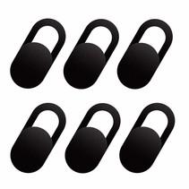 Webcam Cover - Privacy schuifje - Geschikt voor Macbook, Laptop en Tablet - Zwart - 6 stuks