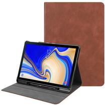 Samsung Galaxy Tab S4 10.5 hoes - PU Leer Folio Book Case - Bruin