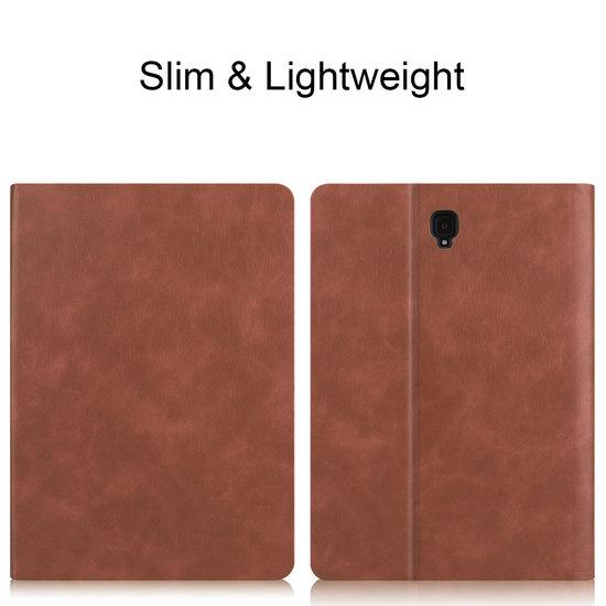 Case2go Samsung Galaxy Tab S4 10.5 hoes - PU Leer Folio Book Case - Bruin