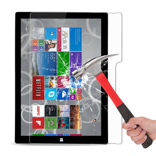 Case2go Microsoft Surface Pro 4 - Tempered Glass Screenprotector