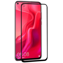 Honor 20 Lite - Full Cover Screenprotector - Gehard Glas - Zwart