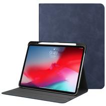 iPad Pro 11 hoes - PU Leer Folio Book Case - Donker Blauw