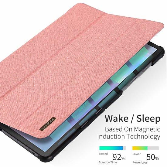 samsung galaxy tab s6 hoes dux ducis domo series roze. Black Bedroom Furniture Sets. Home Design Ideas