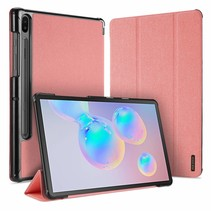 Samsung Galaxy Tab S6 hoes - Dux Ducis Domo Book Case - Roze