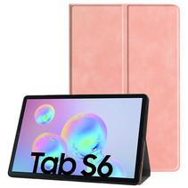 Samsung Galaxy Tab S6 hoes - PU Leer Folio Book Case - Roze