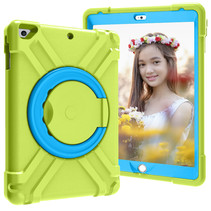 iPad 9.7 (2017/2018) Hoes - Rotating Heavy Duty Stand Case - Groen/Licht Blauw