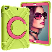 iPad 9.7 (2017/2018) Hoes - Rotating Heavy Duty Stand Case - Groen/Magenta