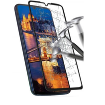 Motorola One Zoom - Full Cover Screenprotector - Gehard Glas - Zwart