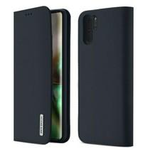 Samsung Galaxy Note 10 hoes - Wish Series Lederen Book Case - Blauw