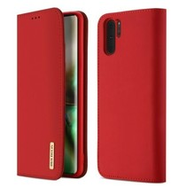 Samsung Galaxy Note 10 hoes - Wish Series Lederen Book Case - Rood