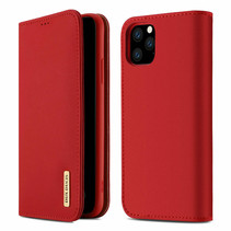 iPhone 11 Pro Max hoes - Wish Series Lederen Book Case - Rood